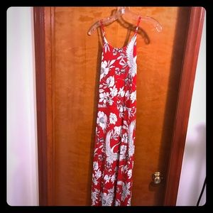 Express maxi dress (L)  side split and bare back